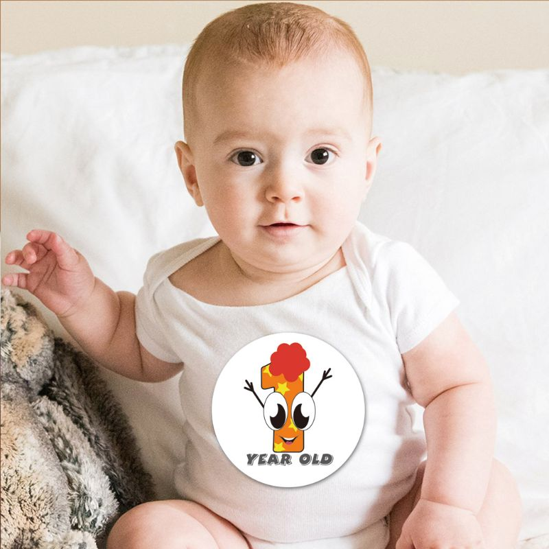 First Year Monthly Milestone Photo Sharing Baby Belly Stickers, 1-12 Months 2020 Hot Sale