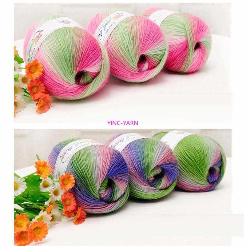 4 x Balls soft acrylic rainbow yarn 100gm 360m 8 ply knitting crochet BULK