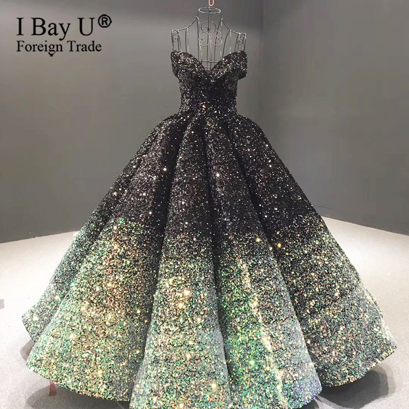 France Sparkling Sequins Off Shoulder Wedding Dress 2020 Sweetheart Sexy Robe De Mariée Burgundy Luxury Ball Gown