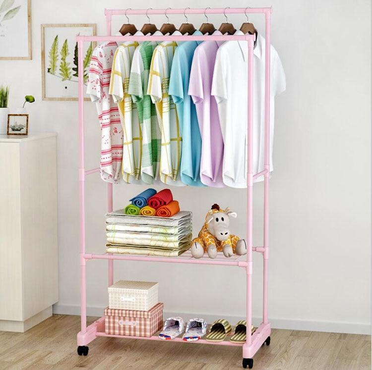 Металлическая Вешалка с колесами напольная стойка вешалка для одежды шкаф для хранения одежды сушилка для одежды porte manteau perchero de pie
