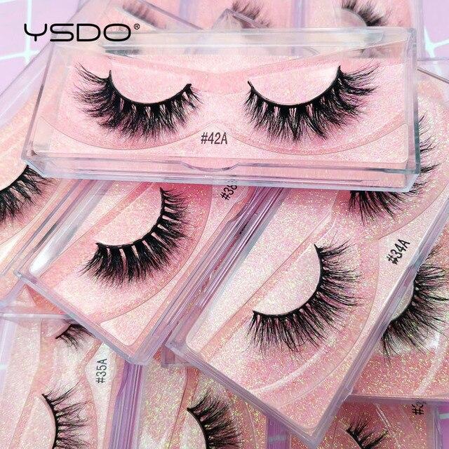YSDO 1 Pair 3D Mink Eyelashes Cruelty Free Lashes Fluffy Full Strip Thick False Eyelashes Cils Makeup Dramatic Real Mink Lashes 1