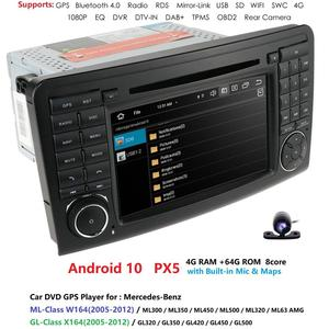Image 2 - 2din 7player android 10 octa núcleo leitor de dvd do carro para mercedes/benz/ml/gl classe w164 ml350 ml500 gl320 dsp ips rds wifi 4g dab canbus