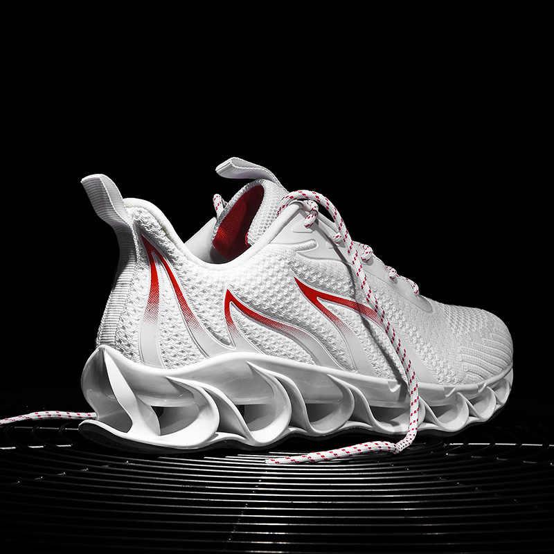 حجم كبير 45 46 شفرة ترتد الرجال أحذية رياضية الخريف في الهواء الطلق تنفس الرياضة احذية الجري للرجل الرياضة المستخدمة في حلقة مفرغة