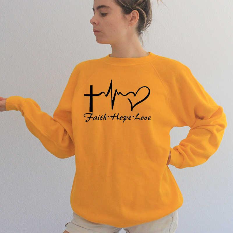 Letter Print Sweatshirt Women Christian Religion Harajuku Hoodie Autumn Winter Womens Clothing Causal Streetwear Dropshipping