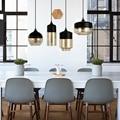 Скандинавский минималистичный современный стеклянный подвесной светильник черный/белый e27 e26 LED прикроватный Ресторан зал чердак Гостиная ...
