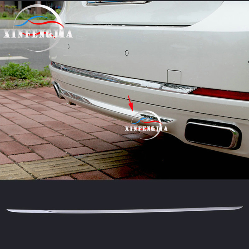 For BMW 7 Series F01 F02 09-15 Stainless Rear Bumper Bottom Cover Trim Moulding