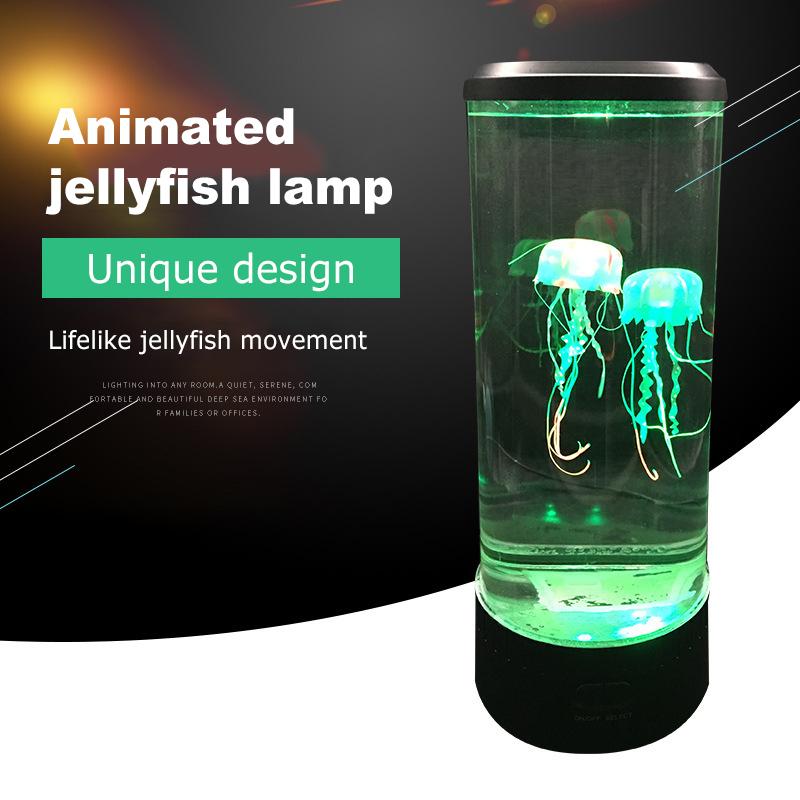 LED Fantasy Jellyfish Lamp USB Power/Battery Powered Color Changing Jellyfish Tank Aquarium Led Lamp Relaxing Mood Night Light