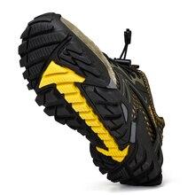 Tamanho grande 39 48 men mountain caminhadas sapatos malha breathalbe tênis de trekking ao ar livre confortável sapatos de escalada