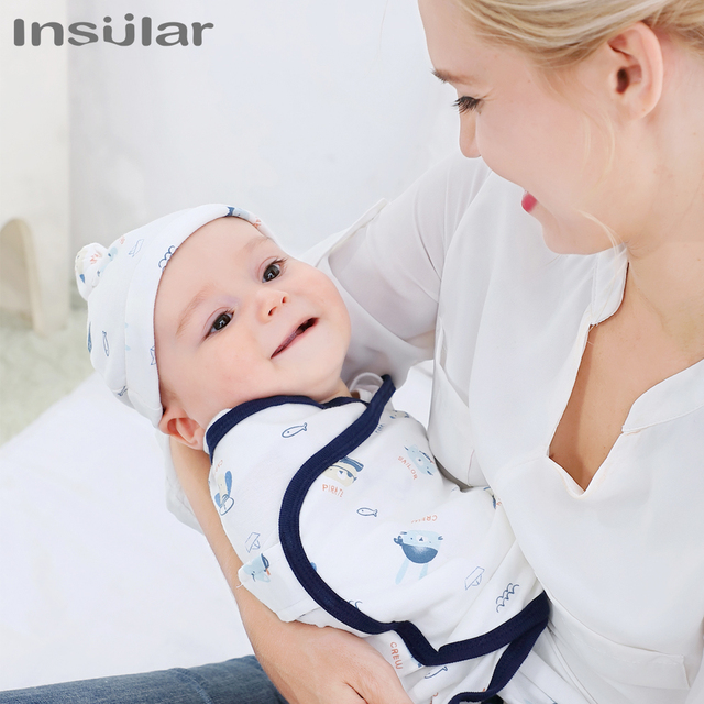 Muslin Baby Blankets Swaddles Newborn Sleeping Bag With Cap Soft Swaddle Wrap Cotton Baby Bedding Accessories Bath Towel Swaddle 3