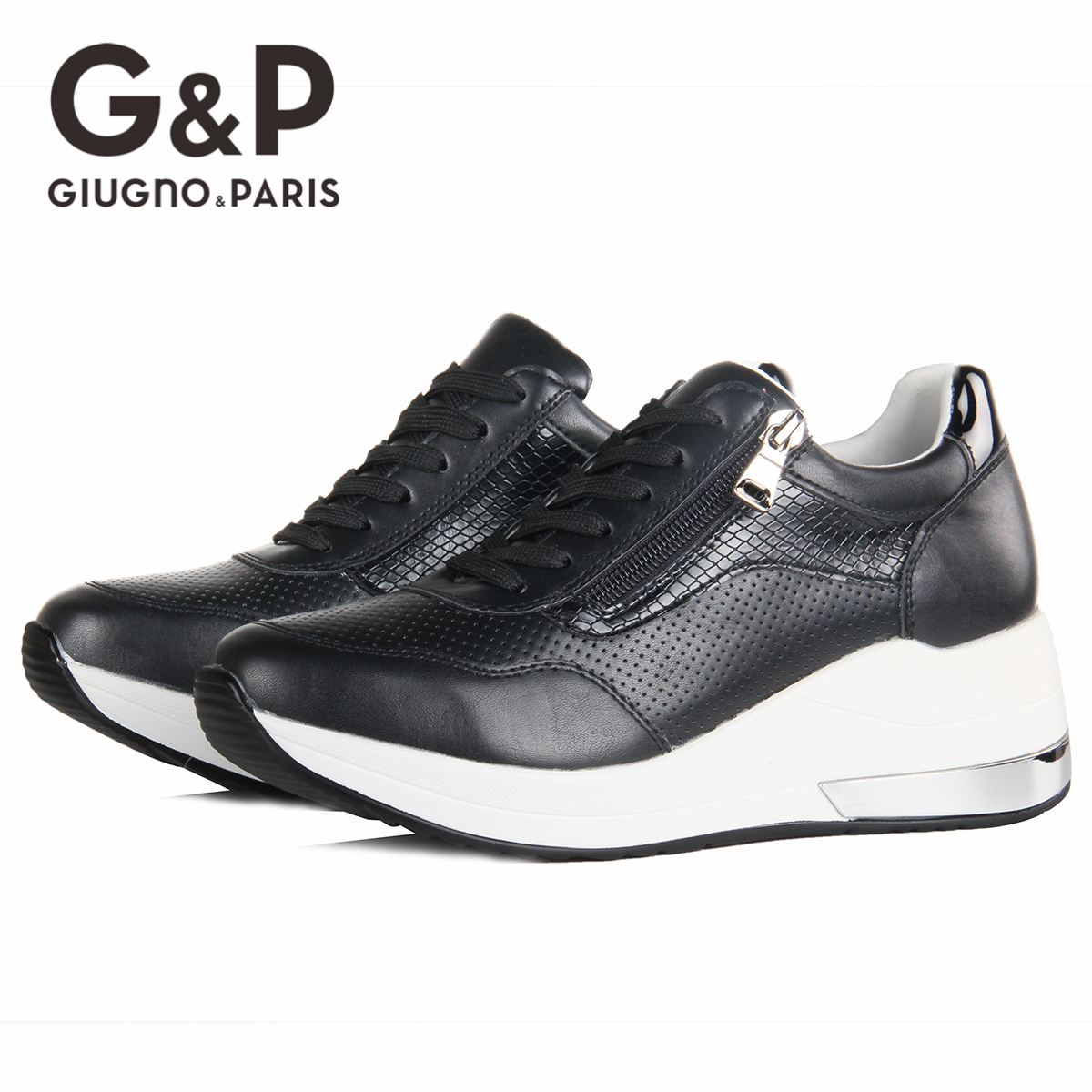 Brand Sneakers Women Breathable Shoes New Design 2020 Casual Platform Wedge Fashion Sneaker With Zipper Easy to Wear 4