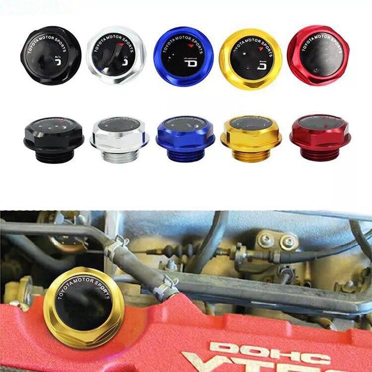 New arrived Billet Aluminum Engine Valve Cover Oil Filler Cap For Toyota Camry Corolla Rav4  Highlander Oil Tank Cover Caps