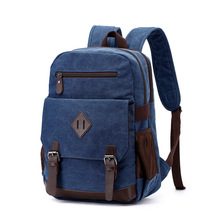Canvas Bag Retro Casual MEN'S Bag Men's And Women's Shoulder Computer Backpack Student Casual School Bag on yulo new washable canvas bag usb printing middle school student bag retro men s shoulder computer backpack