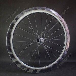 Image 2 - Pro luz x60mm rodas de carbono ciclismo ultra leve x 60 rodas ciclismo estrada jantes carbono novatec centro bloqueio para venda