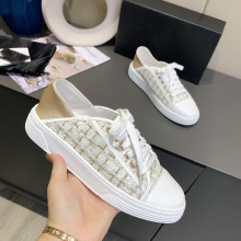 Women Shoes Flat-Loafers Brand Sneakers Leisure Luxury Casual Lace-Up Top-Quality