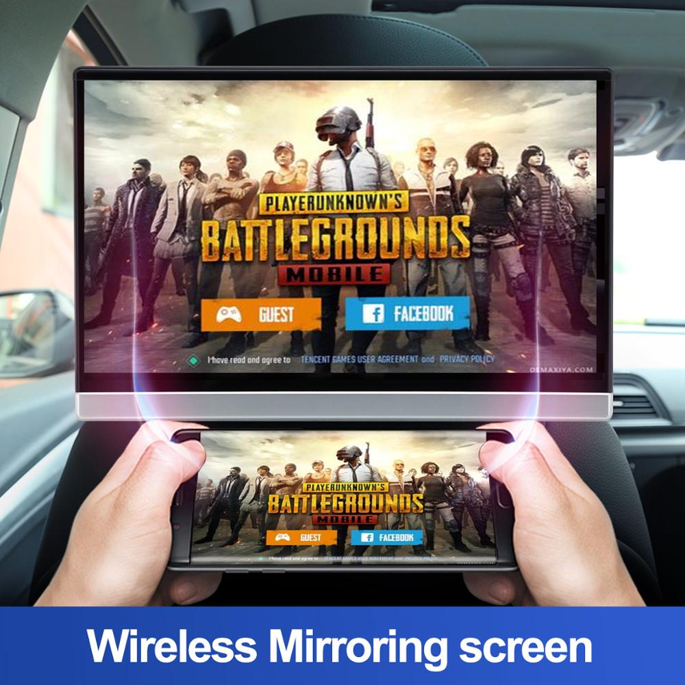 cheapest Car TV Headrest Monitor Touch Screen 13 3 Inch Android 9 0 4K 1080P WIFI Bluetooth USB SD HDMI FM Mirror link movie Video player