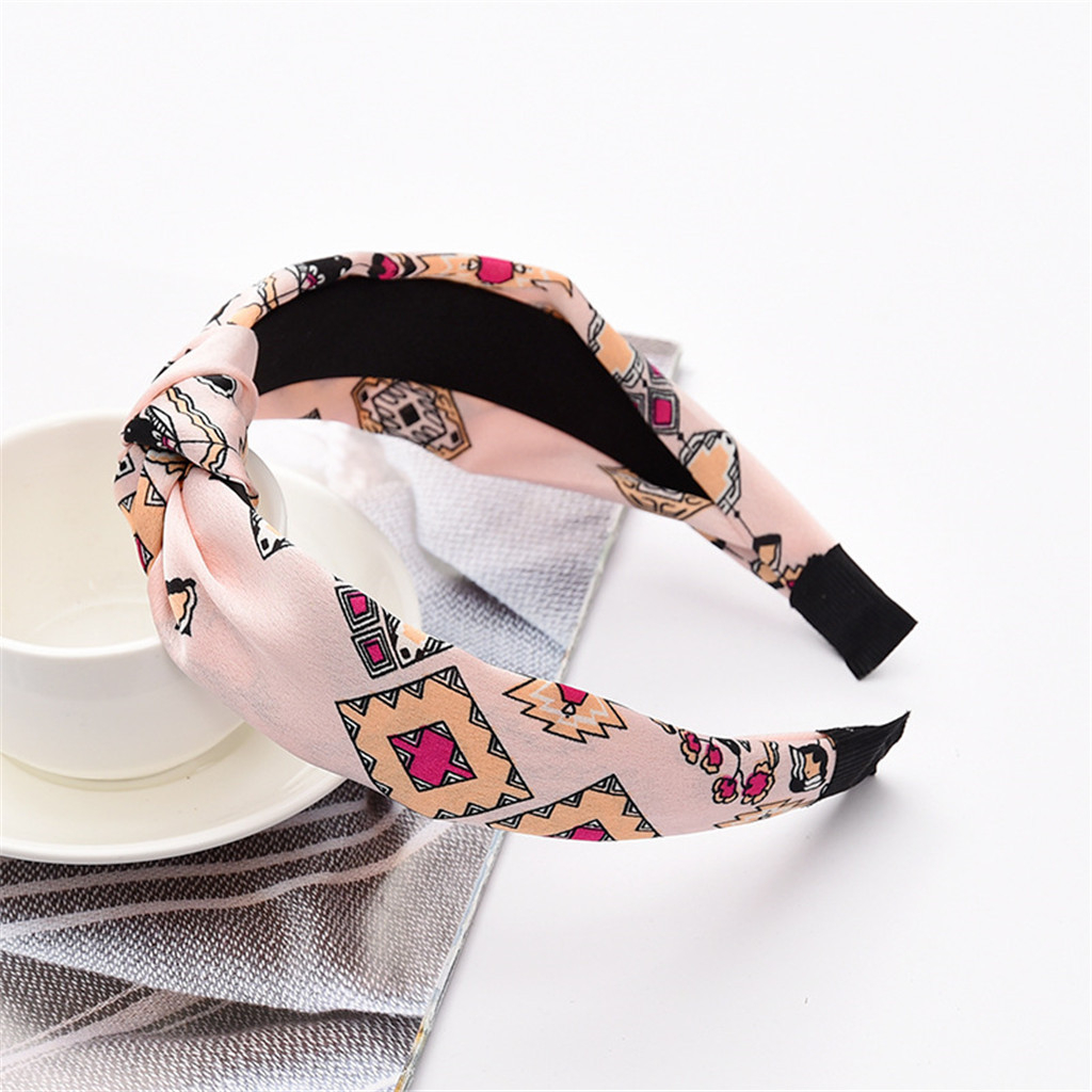 Turban Headband Elastic Hairband Leopard Print Top Knot Headband Handmade Animal Print Headband Checked Hair Band For Women 903