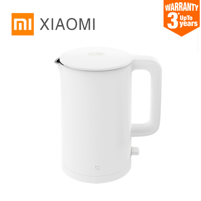XIAOMI MIJIA Electric Kettle 1A Fast Hot boiling Stainless Water Kettle Teapot Intelligent Temperature Control Anti-Overheat Appliances Consumer Electronics