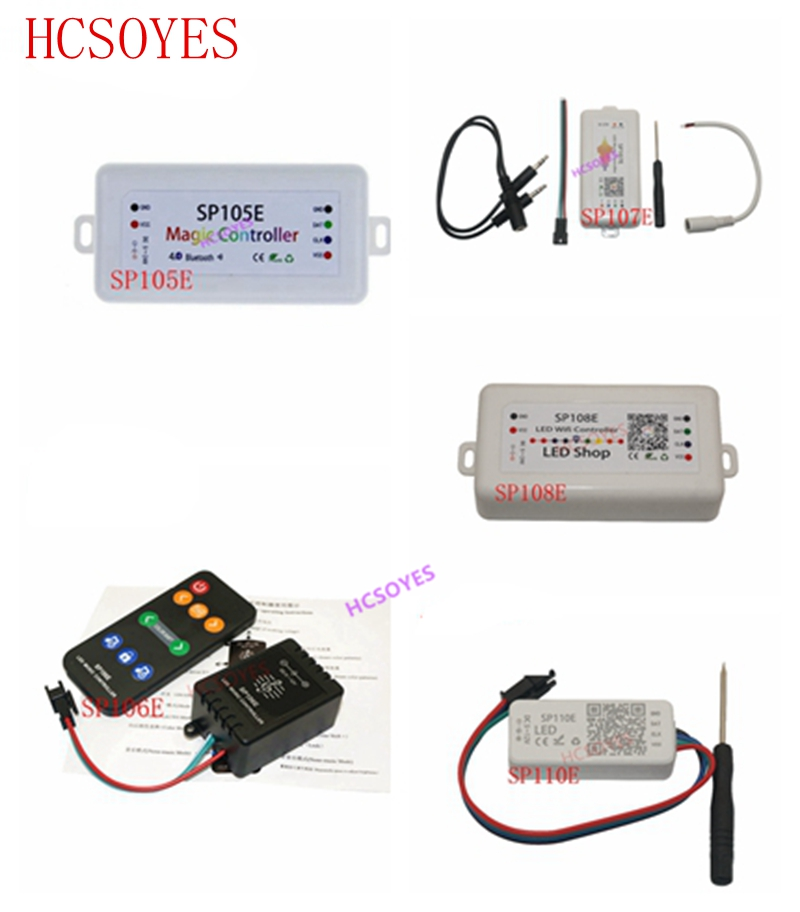 SP108E WIFI SP107E SP106E Music Controller For WS2812B LED Strip SP105E SP110E Bluetooth SK6812 RGB/RGBW APA102 WS2811 LED Light