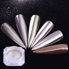 1 коробка блеск для ногтей пыль волшебный зеркальный эффект мерцающий Голографический лазерный порошок Декорации для ногтей искусство пылезащитные инструменты