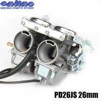 PD26JS 26mm Doppel Twin Zylinder Vergaser für Keihi CBT125 CBT250 CA250 CB250 Cl125-3 Motor Motorrad ATVs Quad Go Kart