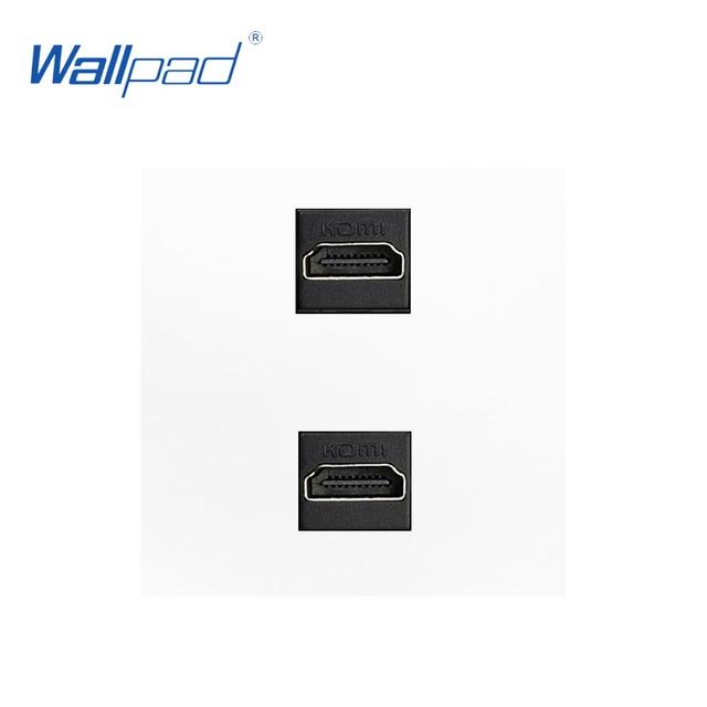 Double HDMI Socket Function Key For Module only 55*55mm Wallpad 2 HIDMI Wall Socket