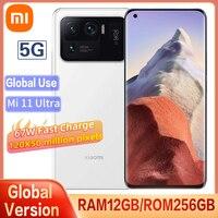 Original Xiaomi Mi 11 Ultra 5G Version Smartphone 12G 256GB Snapdragon 888 CPU 50MP Kamera 67W schnelle Ladung 120HZ Gebogene Bildschirm