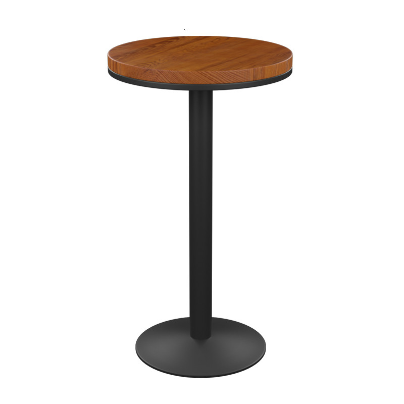 American Bar Stool Modern Minimalist Bar High Chair Solid Wood Retro High Stool Wrought Iron Bar Stool