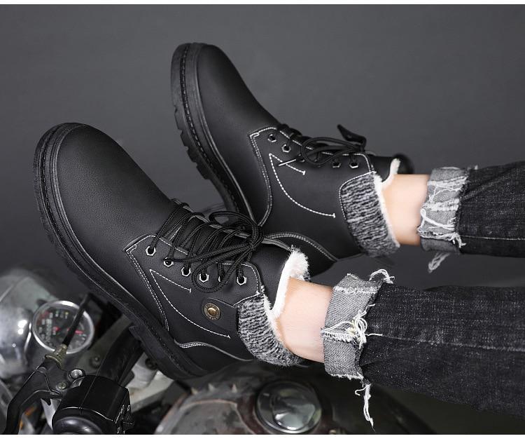Couro sapatos casuais preto cinza homens botas