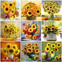 Evershine Алмазная вышивка подсолнух рукоделие картина стразы Алмазная мозаика цветы вышивка крестом наборы домашний декор