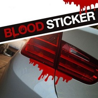 Pegatinas de Halloween para coche, pegatinas reflectantes de sangre roja, calcomanías geniales para coche, parachoques ligero, pegatina corporal, goteo, vinilo decorativo gráfico para coche