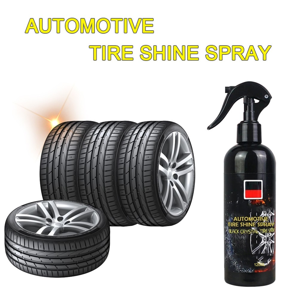 Franchise 120ml Mighty Automotive Tire Spray Effective All Purpose Cleaner Tire Efficient Cleaning Auto Shine Spray Finished