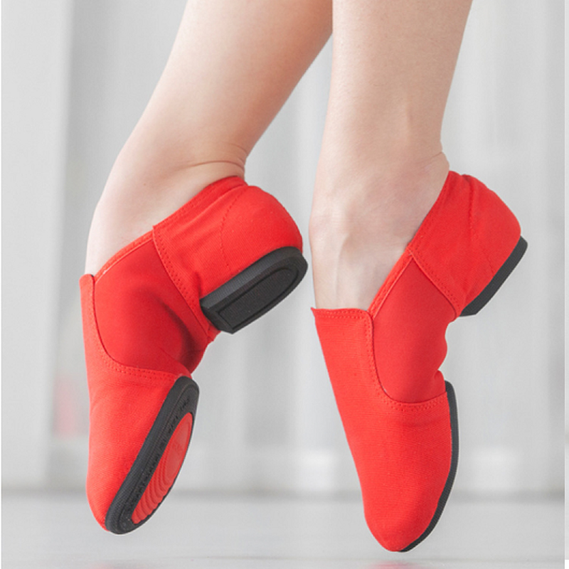 Women Ballet Shoes Girls Kids Ballet Dance Shoes Soft Sole Low Heels Jazz Dancing Shoes Pink/Black/Red Women's Exercise Shoes