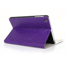 Black Blue Purple PU Leather Protective Case for iPad mini 1/2/3 Pure Color Cover for iPad mini 1 2 3 цена и фото