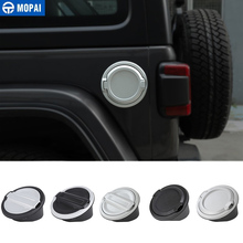 MOPAI Tank Covers for Jeep Wrangler JL 2018 Up Car Oil Cap Fuel Cover Accessories Styling