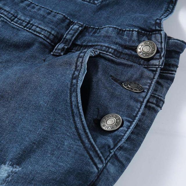 2020 Fashion Men's Ripped Jeans Jumpsuits Hi Street Distressed Denim Bib Overalls For Man Suspender Pants Size S-4XL Overalls 6