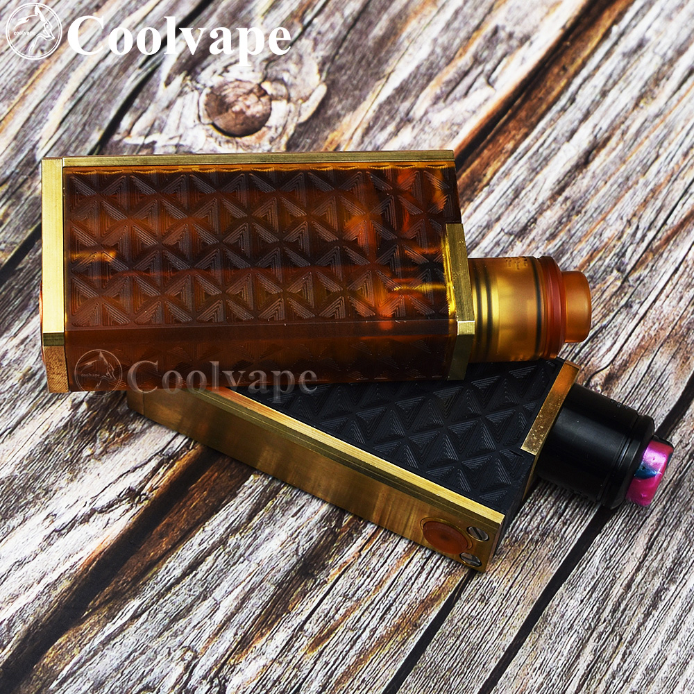 Coolvape Vaporizer Mod Profile RDA Vaporizer Double 18650 Battery Mechanical Vape 316ss Vape Fit Dead Rabbit V2 RDA Zeus X RTA
