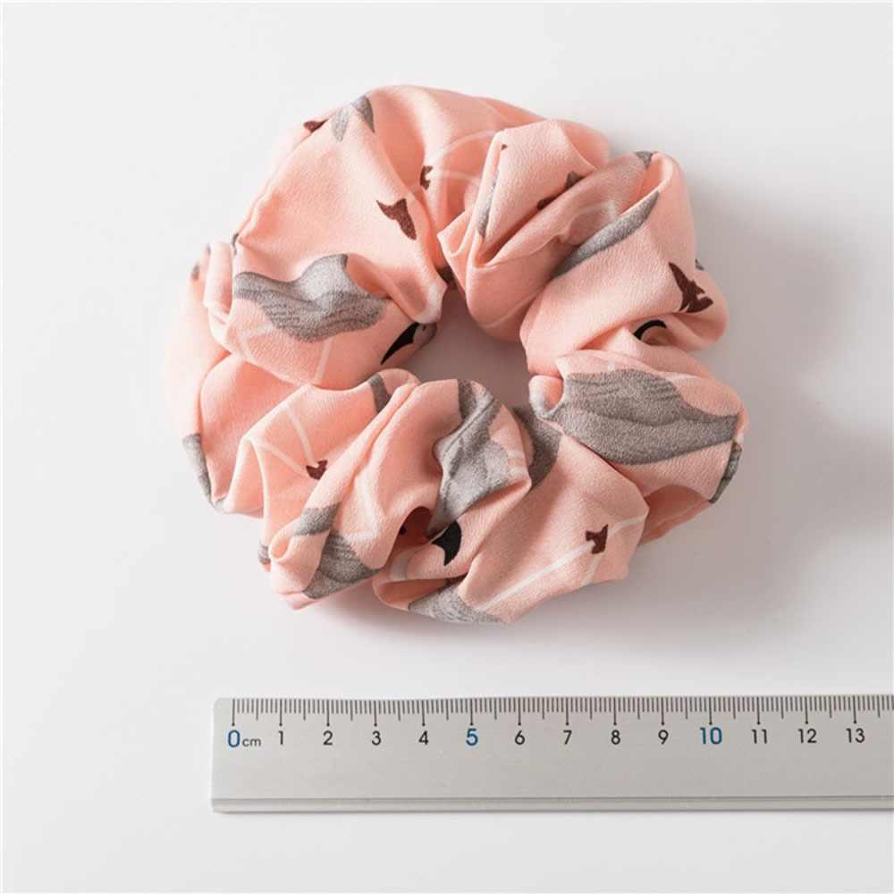 Bloemen Flamingo Solid Ontwerp Haarband Vrouwen Haaraccessoires Stropdas Chouchou Paardenstaart Haar Houder Touw
