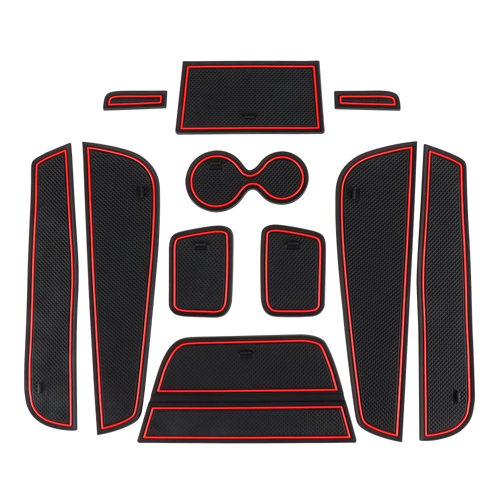 Door Groove Mat For Renault Kaptur Captur QM3 Anti Slip Mat Slot Pad Carpets Interior Decoration Car Styling