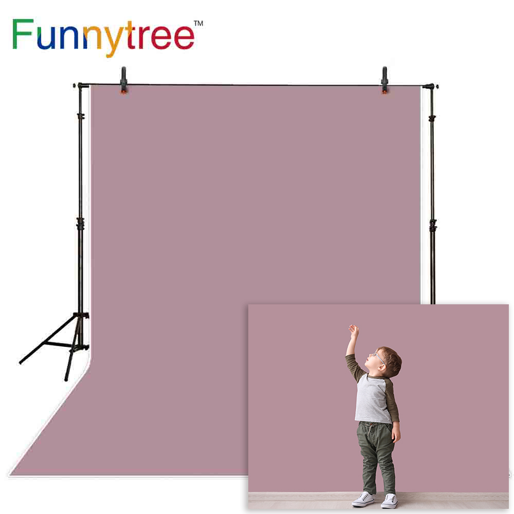 Funnytree new year background photophone Dark gray purple solid color Baby Backdrop photography photo studio portrait photobooth