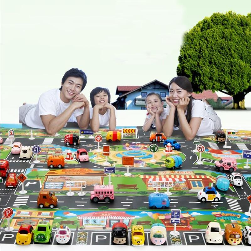130 100CM Large City Traffic Car Park Play Mat Waterproof Non woven Kids Car Playmat Toys Innrech Market.com