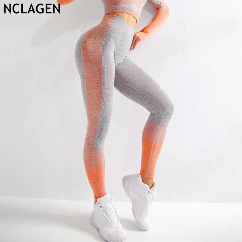 Yoga Leggings Stitching Fitness Push Up For Women/'s Elastic Sport Pants Knitted