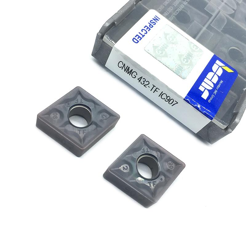 10PCS CNMG120408 TF IC907 IC908  External Turning Tools CNMG 120408 Carbide Insert Lathe Cutter Tool Turning Insert