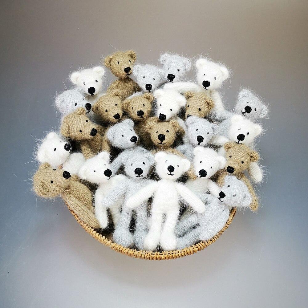 New Arrival!Knitted Little toy, Mink Fur Little Bear,Newborn Photo Props,Fluffy Little Bear for Baby Photography, Newborn Gift