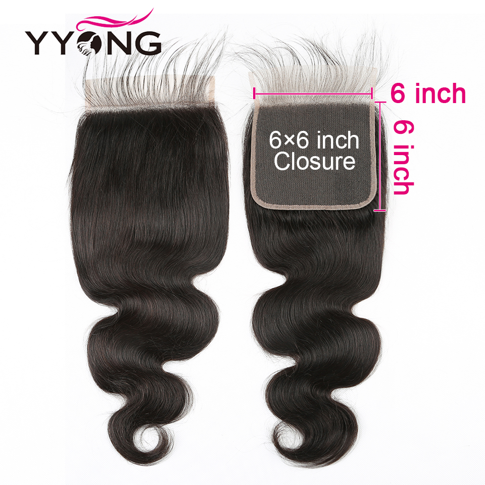 YYONG Hair Body Wave Bundles With 6x6 Closure   Bundles With Closure  Bundles With Closure  6