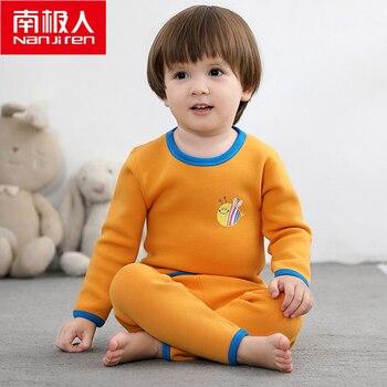 NANJIREN 0-2year Baby Boy Clothes Gold Fleece Long Johns Children Winter Cotton Warm Pajamas Thicken Thicken Thermal Underwear