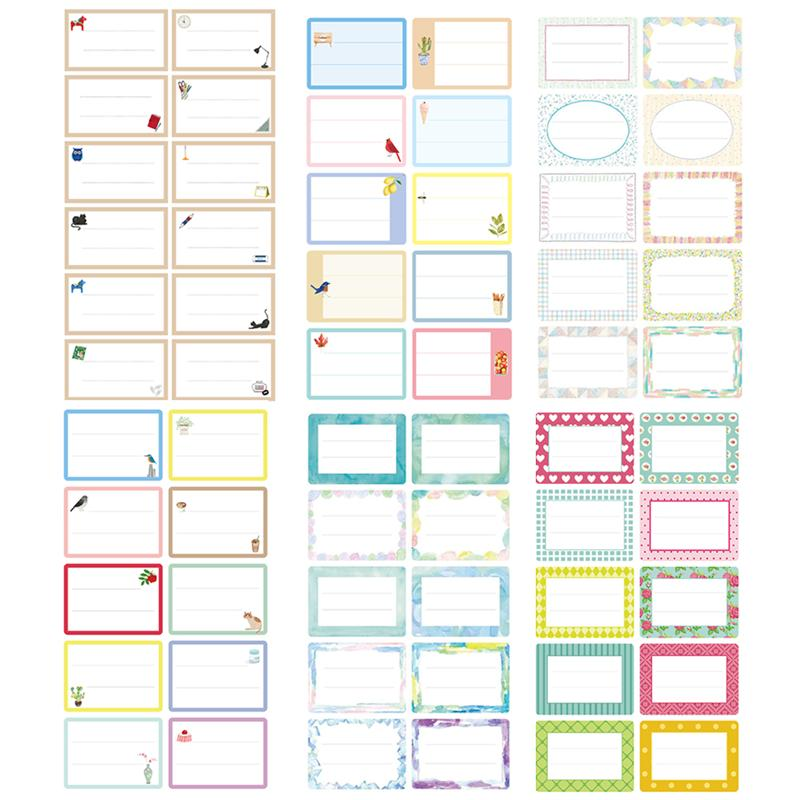 124Pcs Package Stationery Label White Label Write Name Sticker Blank Sticker Label Child Stationery Sticker