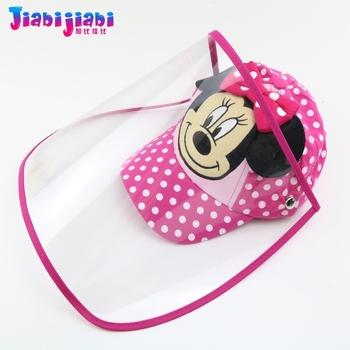 Dziecko dzieci kapelusz maska chłopiec dziewczyny ochrona wirus anty-plucie wirus twarz tarcza maska modny Protetor twarzy plastikowa osłona przeciwsłoneczna tanie i dobre opinie Jiabijiabi COTTON Unisex Drukuj Na co dzień Daszki