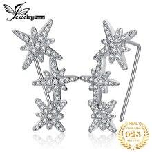 Jewelrypalace estrela zircônia cúbica hoop brincos 925 brincos de prata esterlina para mulheres coreano brincos de moda jóias 2020