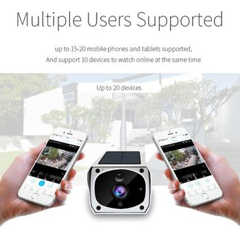 Solar WiFi IP Camera 1080P HD Wireless Security Camera PIR Motion Home Detector 6