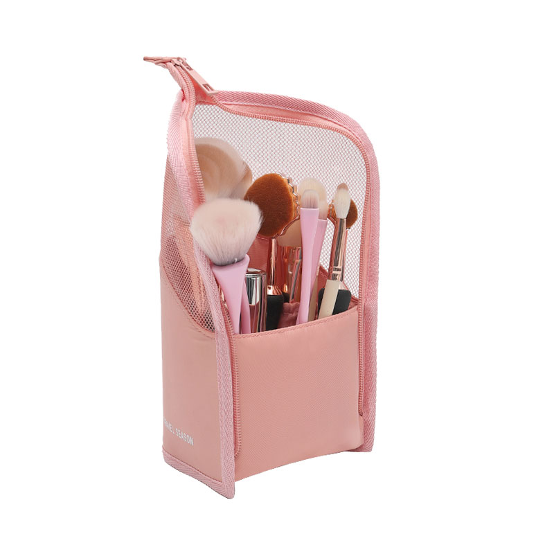 New Folding Fabric Cosmetic Bag Makeup Brushes Pouch Wateproof Make Up Organizer Female Beauty Brush Storage Case